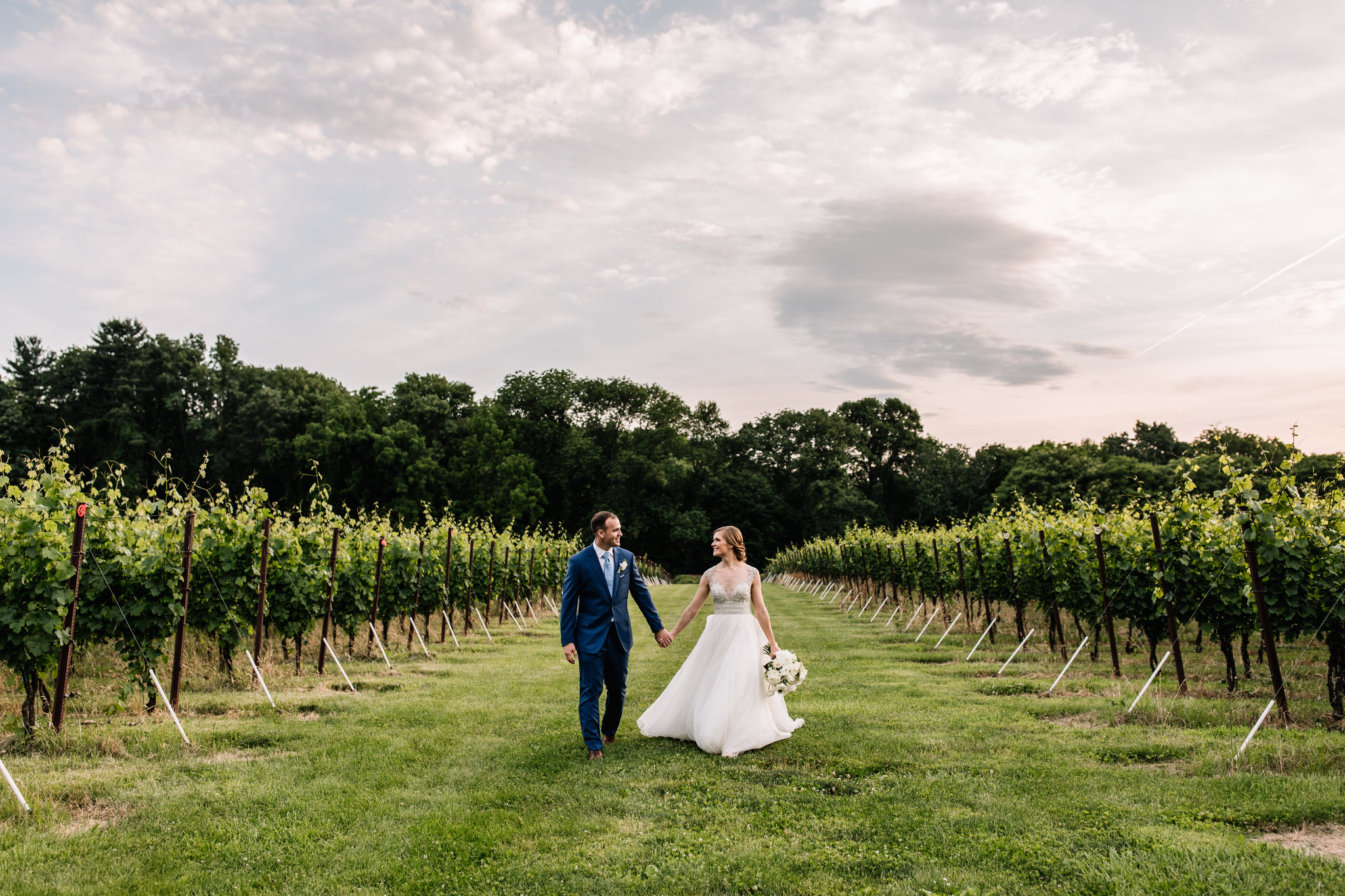 Photo of a bride & groom at Grace Winery