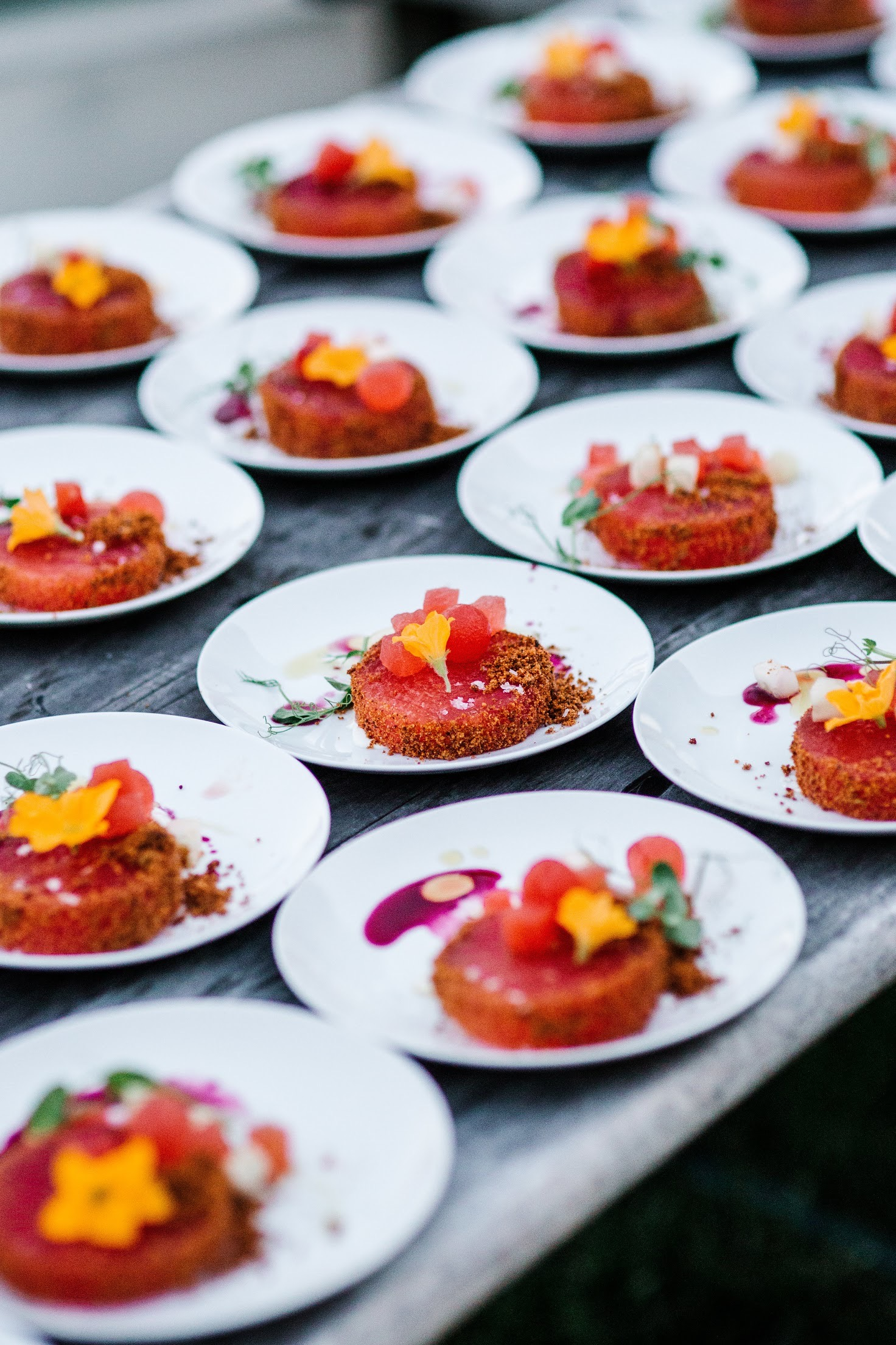 Photo of a catering dish at Grace Winery