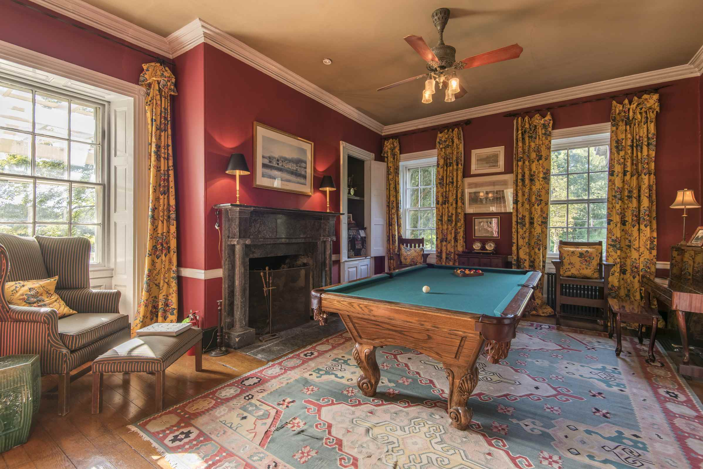 Photo of a billiards room at Grace Winery
