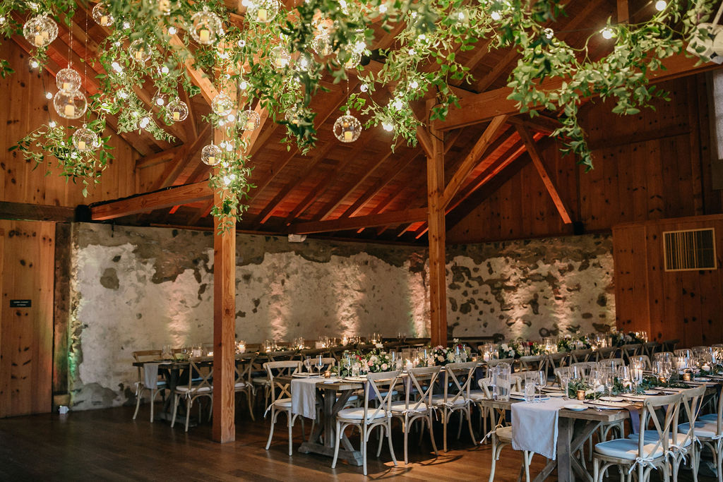 Photo of a reception set up in Grace Winery