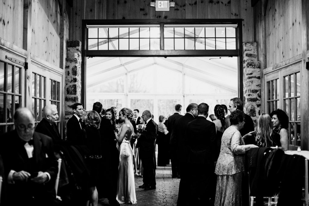 Photo of a wedding reception at Grace Winery