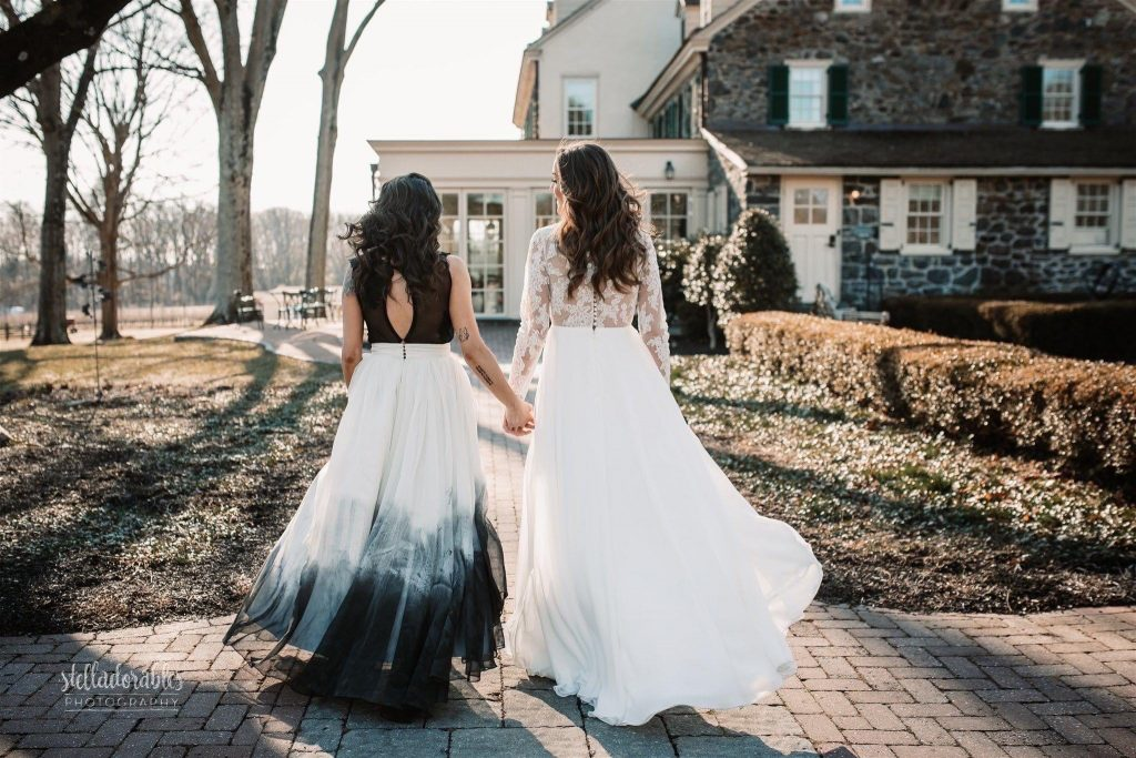 Photo of two brides at Grace winery