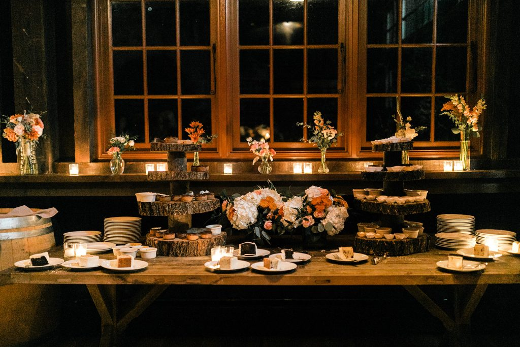 Photo of a dessert display at Grace Winery