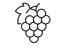 Icon of a bunch of grapes