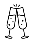 Champagne glasses icon